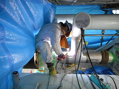 ガス配管新規工事